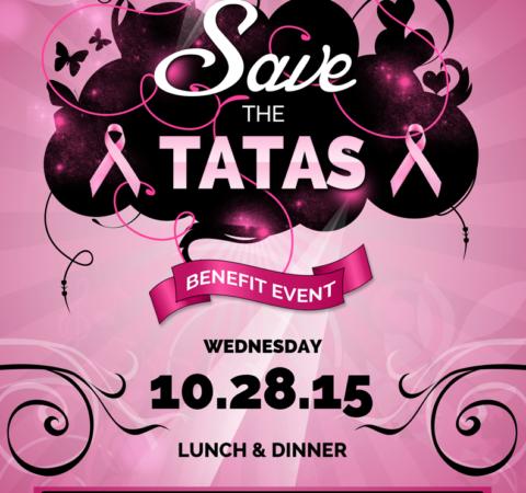 Tabu Shabu Save the Tatas Flyer