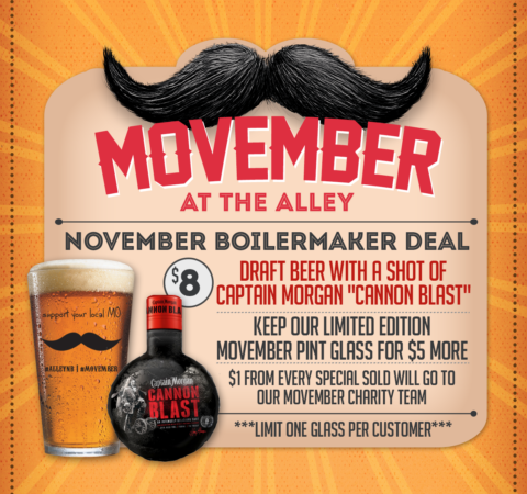 The Alley Movember Flyer