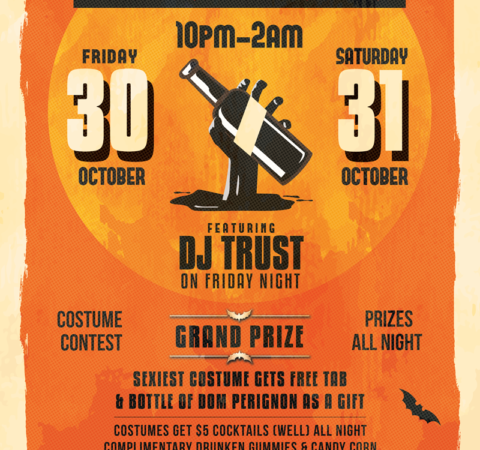 The Alley Halloween Party Flyer