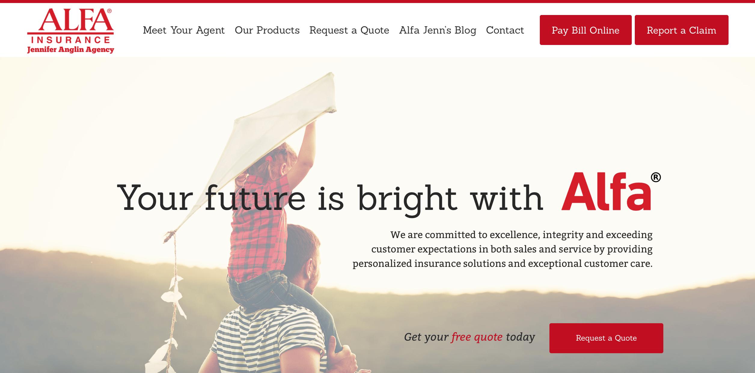 Alfa Insurance Allison Walton Marketing Design